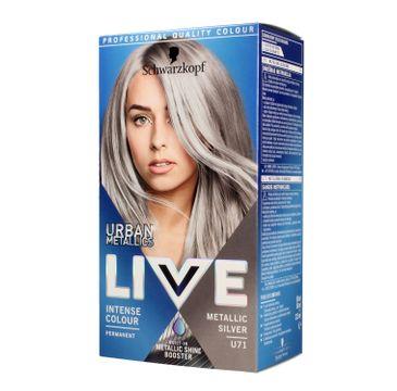 Schwarzkopf – Live Urban Metallics  Metallic Silver U71 trwała farba do włosów (1 szt.)