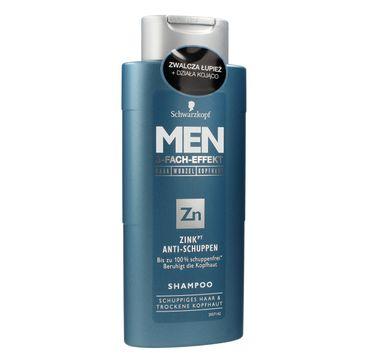 Schwarzkopf Men szampon do włosów przeciwłupieżowy z cynkiem 250 ml
