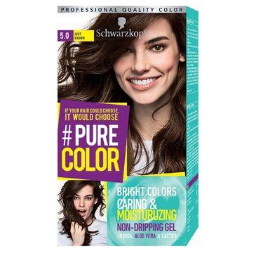 Schwarzkopf Pure Color farba do włosów w żelu nr 5.0 Just Brown 1 op.