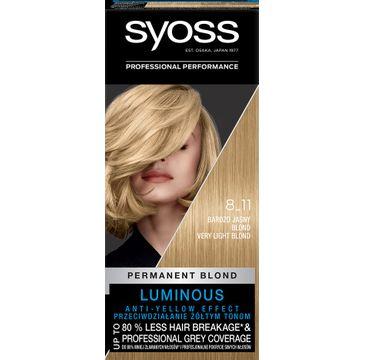 Syoss – Farba do włosów jasny popielaty blond nr 8-11 (1 op.)