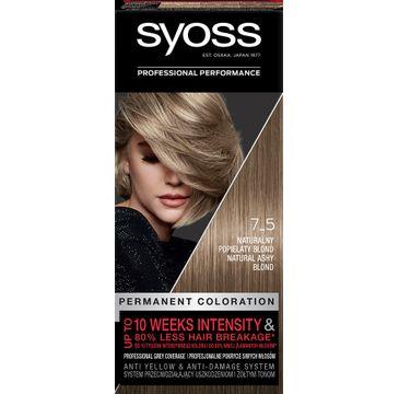 Syoss – Farba do włosów Naturalny popielaty blond nr 7-5 (1 op.)