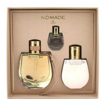 Chloe Nomade – Zestaw woda perfumowana 75 ml + balsam do ciała 100 ml + miniatura 5 ml