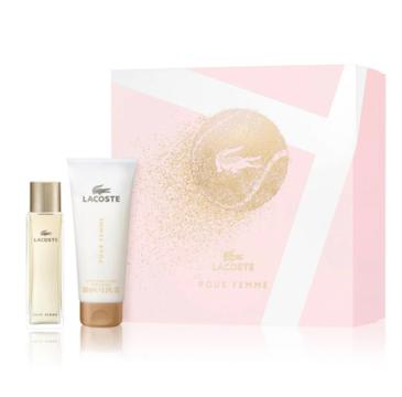 Lacoste – Zestaw Pour Femme woda perfumowana spray 50ml + balsam do ciała 100ml (1 szt.)