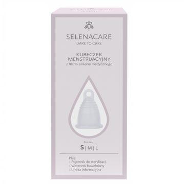 Selenacare Premium kubeczek menstruacyjny z silikonu medycznego Transparentny S