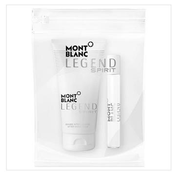 Mont Blanc Legend Spirit Pour Homme – zestaw miniatura wody toaletowej (7.5ml) + balsam po goleniu (50ml) + kosmetyczka