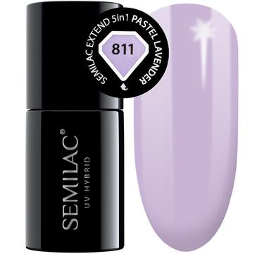 Semilac Base Extend 5w1 811 Pastel Lavender – lakier hybrydowy (7 ml)