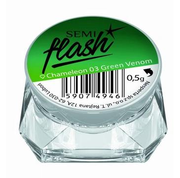 Semilac Pyłek do paznokci Flash Efekt Kameleona 03 Green Venom (1 szt.)