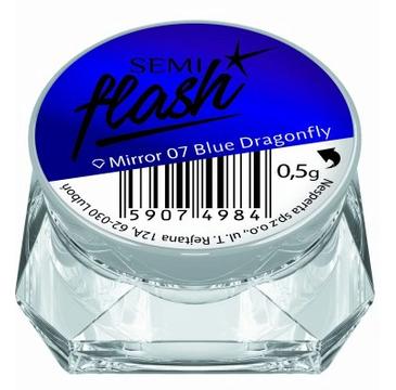 Semilac Pyłek do paznokci Flash Efekt lustra 07 Mirror Blue Dragonfly (1 szt.)