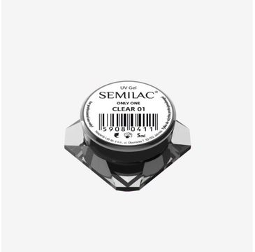 Semilac Gel Only One Clear 01 –  żel do paznokci (5ml)