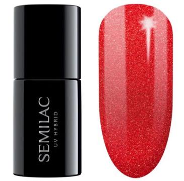 Semilac – Lakier hybrydowy nr 346 Red Glitter (7 ml)