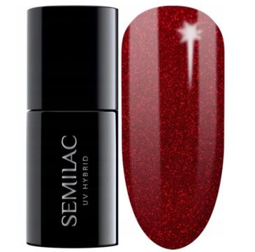 Semilac – Lakier hybrydowy nr 347 Pretty Red Glitter (7 ml)