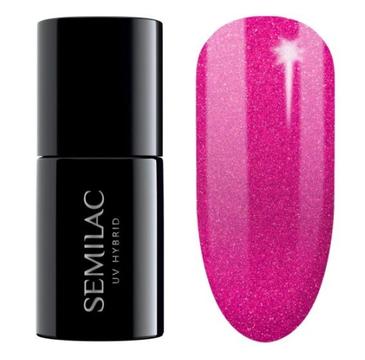 Semilac – Lakier hybrydowy nr 348 Charming Ruby Glitter (7 ml)