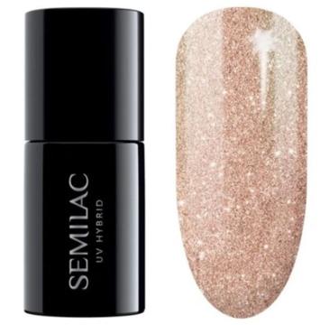 Semilac – Lakier hybrydowy nr 349 Delicate Vanilla Glitter (7 ml)