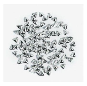 Semilac – Ozdoba do paznokci Srebrny trójkąt 775 (100 szt.)