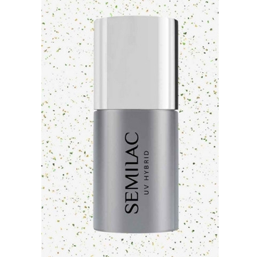 Semilac Top No Wipe Blinking Gold&Green Flakes (7 ml)