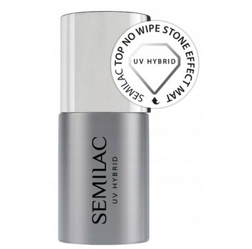 Semilac Top No Wipe Mat Stone Effect Top do lakierów hybrydowych (7 ml)