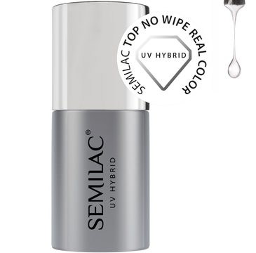 Semilac – top do lakierów hybrydowych No Wipe Real Color (7 ml)