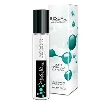 Sexual Attraction Pheromones Man Formula 5-Alpha feromony dla mężczyzn woda perfumowana spray (15 ml)