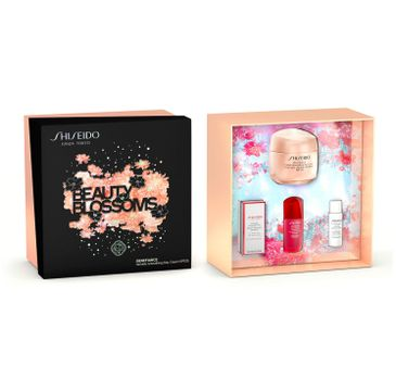 Shiseido Beauty Blossoms zestaw Benefiance Wrinkle Smoothing day cream  SPF 25 50ml + Power Infusing 10ml + Treatment Softener Enriched 7ml + Clarifying Cleansing Foam 5ml (1 szt.)