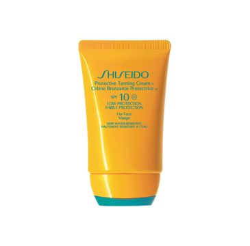 Shiseido Protective Tanning Cream SPF10 Krem ochronny do opalania twarzy i ciała 50ml
