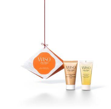 Shiseido Waso Hello Moisture zestaw Giga-Hydrating Rich Cream 30ml + Quick Gentle Cleanser 30ml (1 szt.)