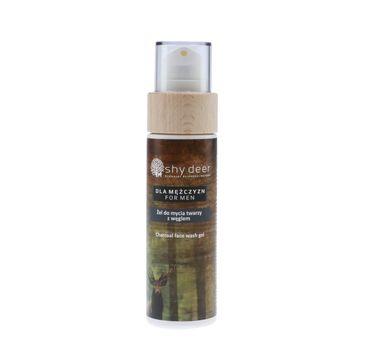 Shy Deer – For Men Charcoal Face Wash Gel żel do mycia twarzy z węglem dla mężczyzn (100 ml)