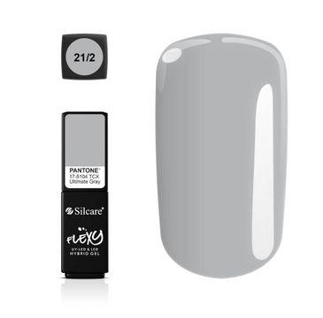 Silcare – Flexy Hybrid Gel Pantone lakier hybrydowy 21/2 Ultimate Gray (4.5 g)