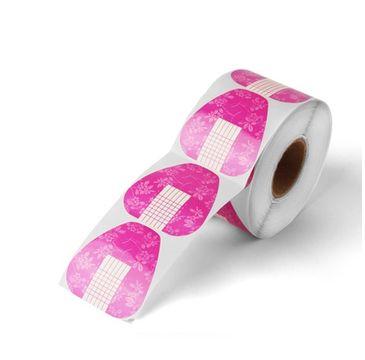 Silcare Formy dwustronne do przedłużania paznokci Pink 500szt