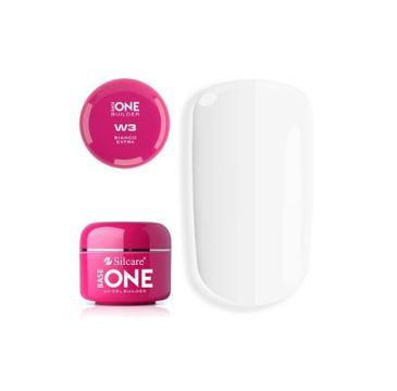 Silcare Gel Base One Bianco Extra W3 żel budujący do paznokci (15 g)