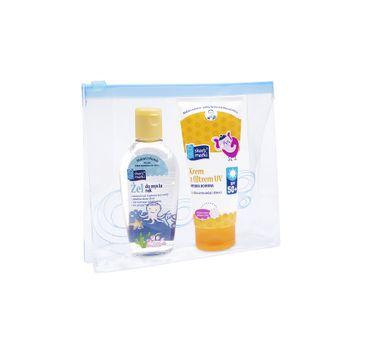 Skarb Matki zestaw prezentowy krem z filtrem UV SPF50 75 ml + żel do mycia rąk 80 ml + kosmetyczka