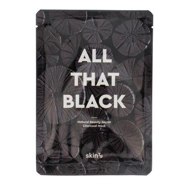 Skin 79 All that Black maska do każdego typu cery w płacie z pyłem węglowym oczyszczająca 25 g