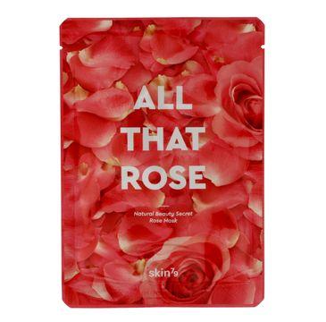 Skin 79 All that Rose maska do każdego typu cery w płacie z wodą z bułgarskiej róży łagodząca 25 g