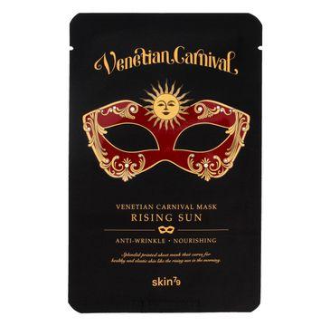 Skin 79 Venetian Carnival Mask Rising Sun maska do każdego typu skóry w płacie odżywczo-przeciwzmarszczkowa 23 g