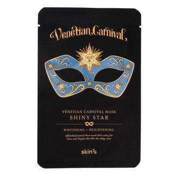 Skin 79 Venetian Carnival Shiny Star Mask maska w płacie do każdego typu skóry rozświetlająco-rozjaśniająca 23 g