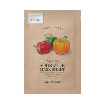 SkinFood Paprika Sous Vide Mask Sheet intensywnie nawilżająca maseczka w płachcie (18 g)