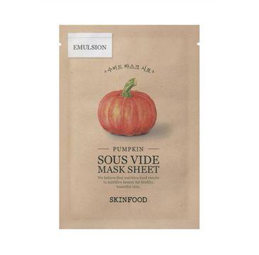 SkinFood Pumpkin Sous Vide Mask Sheet ujędrniająco-wygładzająca maseczka w płachcie (20 g)