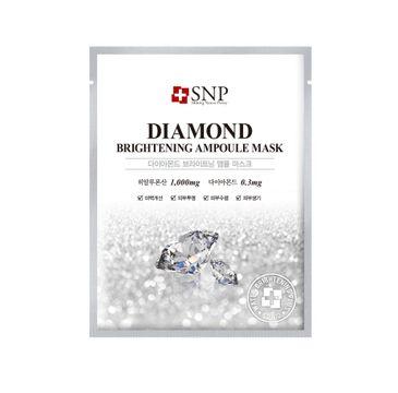 SNP Diamond Brightening Ampoule Mask rozjaśniająca maska w płachcie z pyłem diamentowym (25 ml)
