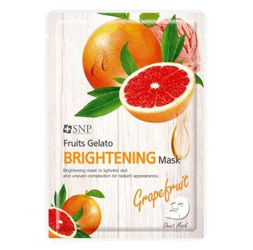 SNP Fruits Gelato Brightening Mask rozjaśniająca maska w płachcie z ekstraktem z grejpfruta (25 ml)
