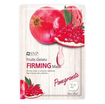 SNP Fruits Gelato Firming Mask ujędrniająca maska w płachcie z ekstraktem z granatu (25 ml)