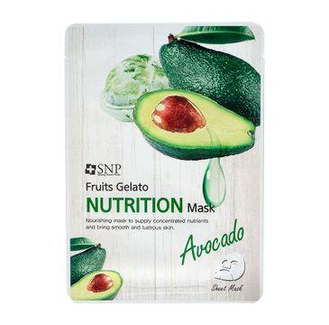 SNP Fruits Gelato Nutrition Mask odżywcza maska w płachcie z ekstraktem z awokado (25 ml)