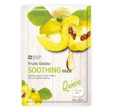 SNP Fruits Gelato Soothing Mask łagodząca maska w płachcie z ekstraktem z pigwy (25 ml)