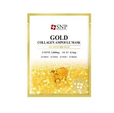 SNP Gold Collagen Ampoule Mask ujędrniająca maska w płachcie z kolagenem i złotem (25 ml)
