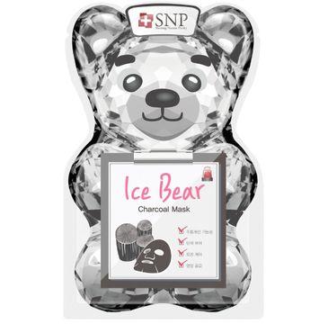 SNP Ice Bear Charcoal Mask chłodząco-oczyszczająca maska w płachcie (33 ml)