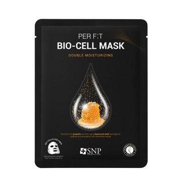 SNP Per Fit Bio-Cell Mask Double Moisturizing intensywnie nawilżająca maska w płachcie z biocelulozy (25 ml)