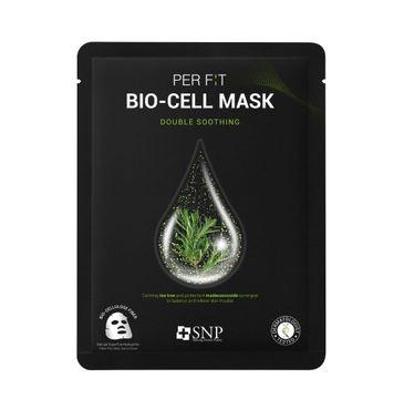 SNP Per Fit Bio-Cell Mask Double Soothing intensywnie łagodząca maska w płachcie z biocelulozy (25 ml)