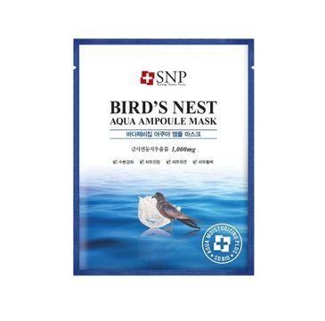 SNP Purity Bird's Nest Aqua Ampoule Mask nawilżająco-rewitalizująca maska w płachcie z ekstraktem z ptasich gniazd (25 ml)