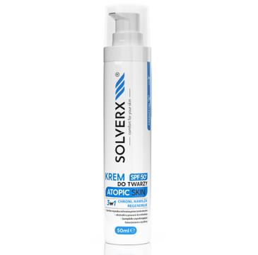 Solverx Krem do twarzy z SPF50+ Atopic Skin (50 ml)