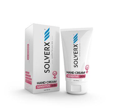 Solverx – Krem do rąk i paznokci dla kobiet do skóry wrażliwej (50 ml)