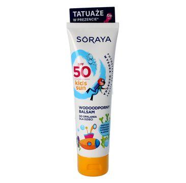 Soraya balsam do opalania dla dzieci SPF 50 100 ml + 4 tatuaże gratis