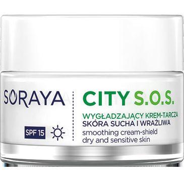 Soraya City S.O.S. Wygładzający krem tarcza na dzień SPF15 - cera sucha i wrażliwa 50 ml